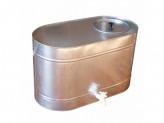 Бак оцинкованный 75л овал для воды с краном, магнитогорск