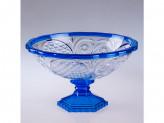 Ваза для фруктов, пластик, хрусталь прозрачный синий м4660