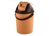 Ведро для мусора 7л solano бежевый коричневый