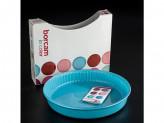 Посуда для СВЧ круглая d-260 мм цветное стекло