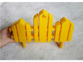 "Заборчик ""домик"" 0,19мх1,7м желтый"