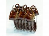 Набор керамическая чайный 12 предметов на металлический подставке