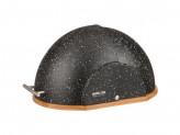 Хлебница деревянная 37х26х27см крышка пластик черный мрамор 36х26х20см