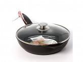 Сковорода 24см с крышкой традиция с антипригарным покрытием съем ручка стекл крыш