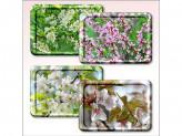 Поднос 20х14см цветущие деревья
