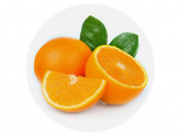 Доска разделочная стекло d-20см апельсин