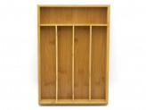 Лоток для стол приборов бамбук 35,5х25,4х5см