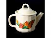 Чайник 1,0л кремовый с рисунком
