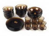 Набор столовый 30 предметов дым basilico