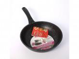 Сковорода 22см без крышки темный мрамор