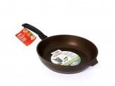 Сковорода 26см без крышки кофейный мрамор съемная ручка