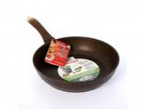 Сковорода 26см без крышки кофейный мрамор