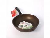 Сковорода 24см без крышки кофейный мрамор съемная ручка