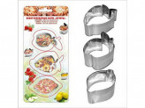 Набор форм для выпечки 3шт фрукты