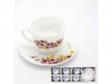 Набор чайный 12 предметов 6 чашек 6 блюдец розалия