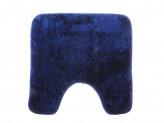 Коврик для туалета МЯГКИЙ 50х50см микрофибра синий