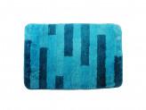 Коврик для ванной ПОЛОСКА 50х75см микрофибра синий