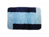 Коврик для ванной ОТТЕНОК 50х75см микрофибра синий
