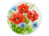 Тарелка десертная стекло 200мм Маковое цветение