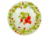 Тарелка десертная стекло 200мм Сочная клубника