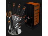 Набор ножей 8 предметов granit diamond line черн/оранж