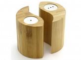 Набор для специй 2пр (солонка+перечница) бамбук 7х7см №4