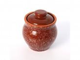 Горшок под жаркое 0,4л традиционный мрамор коричневый