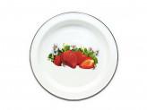 Блюдо 2,0л эмалированый с рисунком клубника
