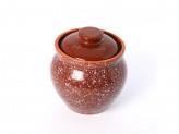 Горшок под жаркое 0,6л традиционный мрамор коричневый