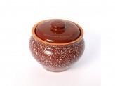 Горшок под жаркое 0,8л традиционный мрамор коричневый
