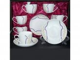 Набор кофейный 12 предметов (6 чашек 150мл+6блюдец) под/упак