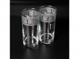 Набор стаканов 6шт 255мл выс istanbul серебро