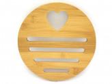 Подставка п/горячее бамбук d-180х10мм №2