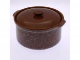 Горшок под жаркое 2,0л мрамор коричневый