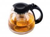 Чайник 0,70л для заварки круглый чёрный