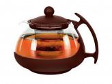 Чайник 0,75л для заварки круглый коричневый