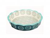 MILLIMI Форма для запекания и сервировки круглая, керамика, 22х4,5см, аквамарин