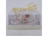 MILLIMI Волшебные цветы Набор чайный 2 предмета 330мл, тонкий фарфор