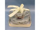 Ретро Набор чайный 2 предмета 220мл, фарфор
