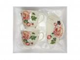MILLIMI Чайная роза Набор чайный 4 предмета 250мл, костяной фарфор
