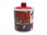 Банка для сыпучих продуктов, 520мл, 10х13см керамика Повар