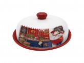 MILLIMI Повар Блюдо для блинов с крышкой 25х25х10см, керамика