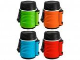 Термос-контейнер пищевой с рем-м, корп PP, объем -1,3 л, колба - нерж ст, серия - BELLO, тм Mallony