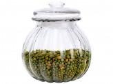 Стеклянная банка для сыпучих продуктов с крышкой BOLLA, объем: 0.75 л, тм Mallony