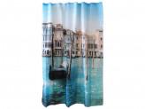 """Занавеска для ванной Рыжий кот Curtain-Venice """"Венеция"""", полиэстер, размер 180 х 180 см"""