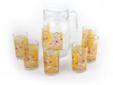 "Набор для воды ""Желтый узор"" кувшин, стаканы 6шт PV-05009-2"