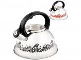 Чайник из нержавеющей стали с рисунком, меняющим цвет Mallony MAL-0417A 3,0 литра, со свистком, кап