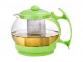 Чайник заварочный Decotto-1100 с пластик ручкой, фильтр из нерж ст, 1,1 л, Mallony
