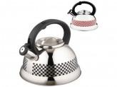 Чайник из нержавеющей стали с рисунком, меняющим цвет Mallony MAL-0417С 3,0 литра, со свистком, кап