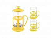 Чайник кофейник и две чашки Mallony PFP01-600ML-SET 950083